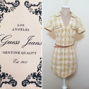 Vintage Guess Jean's Snap Front Dress